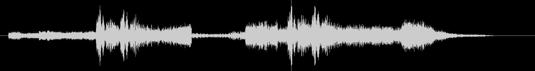 シンセFXと心音のジングル Aパターンの未再生の波形