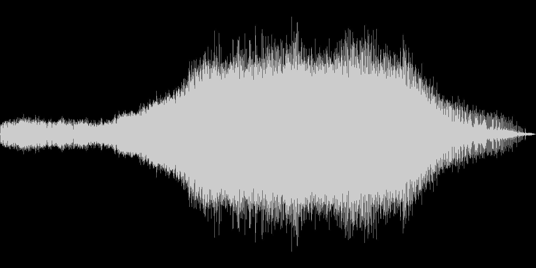 ミーン。約1分間の蝉の鳴き声の未再生の波形