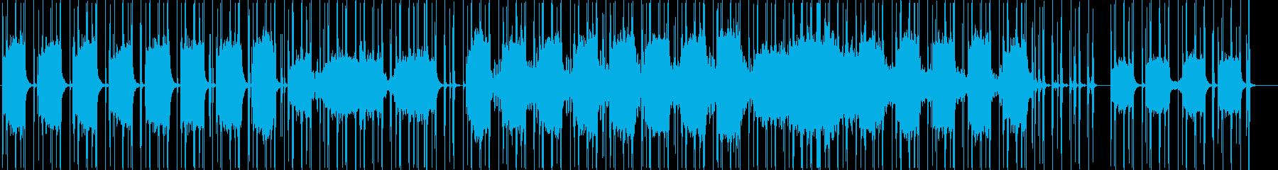 空間を生かしたストリングスシンセ曲の再生済みの波形