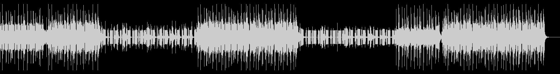 エレクトロとHip hopなビートの曲の未再生の波形