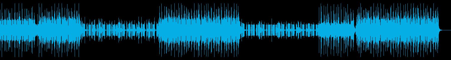 エレクトロとHip hopなビートの曲の再生済みの波形