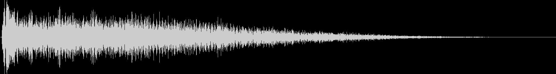 音楽スティンガー;エコー付きのハー...の未再生の波形