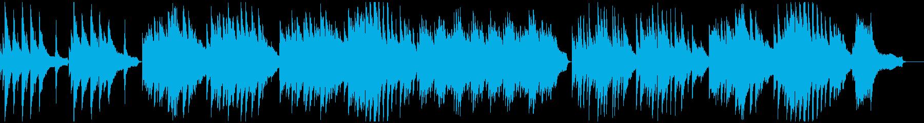 劇的ビフォーアフターのオマージュ・ピアノの再生済みの波形