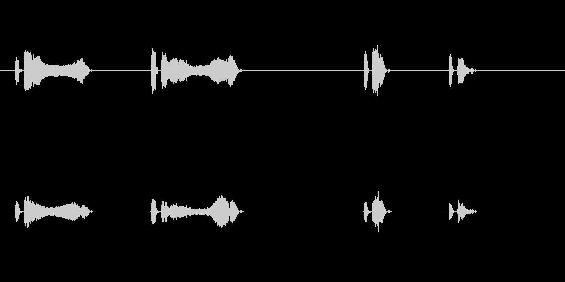 うぐいす4ケキョ梅に鶯春鳴き声初音ホーホの未再生の波形