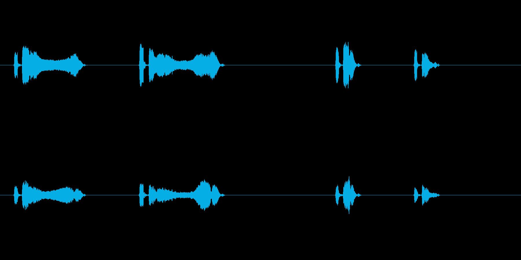 うぐいす4ケキョ梅に鶯春鳴き声初音ホーホの再生済みの波形