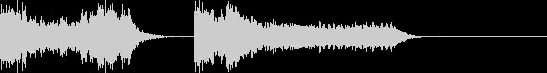ピアノとストリングスの破滅的なジングルの未再生の波形