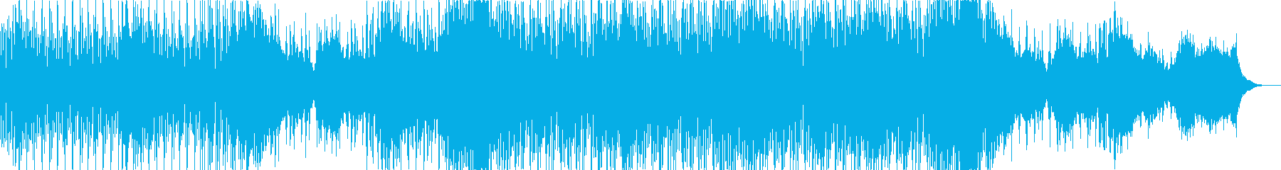 優しい感じのトロピカルハウスの再生済みの波形