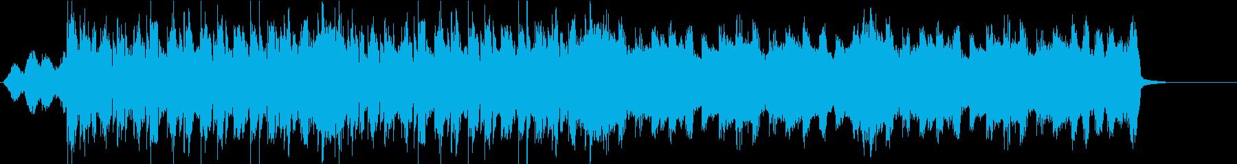 EDM ベースの効いたBGM 39秒の再生済みの波形