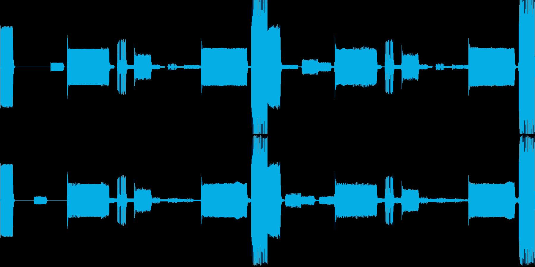 k008 アラーム音(ループ仕様)の再生済みの波形