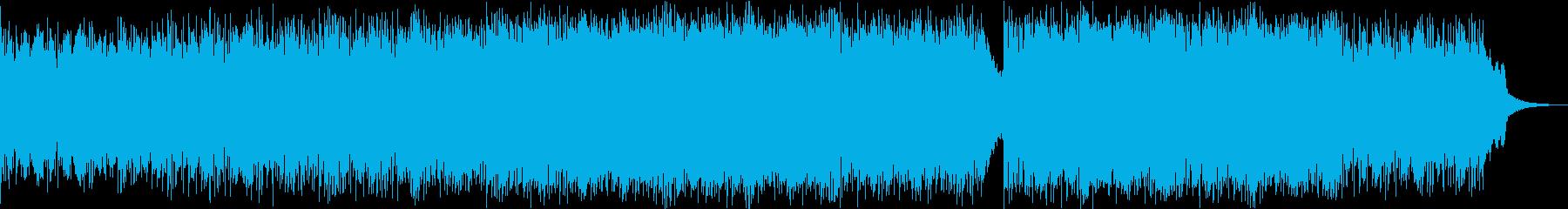 激しい、エピックなリズムのメタルBGMの再生済みの波形