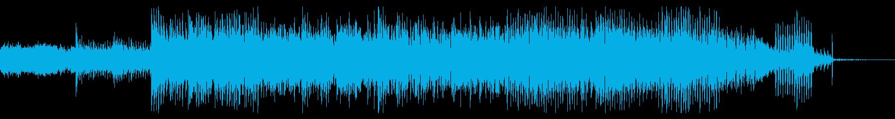 不思議でノイジーなテクニカルなビートの再生済みの波形