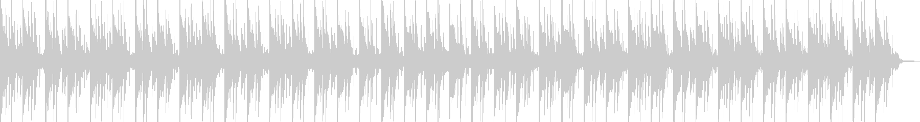 和風情緒豊かな旋律のヒーリングBGMの未再生の波形