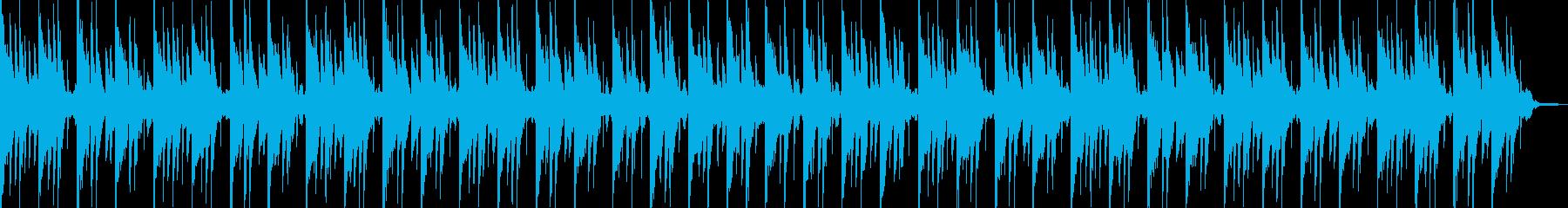 和風情緒豊かな旋律のヒーリングBGMの再生済みの波形