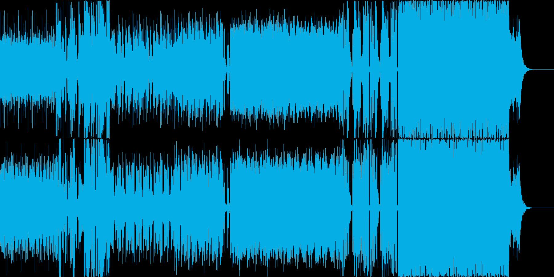 近未来的な楽曲ですの再生済みの波形