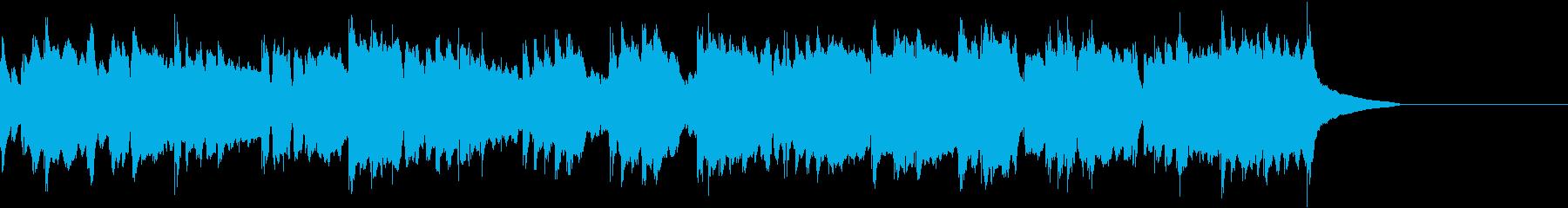 告知やCMなどに使える穏やかな曲の再生済みの波形
