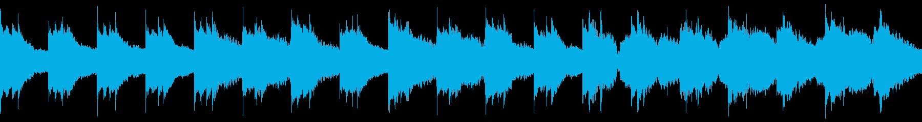 村系BGM_バラード_ループの再生済みの波形