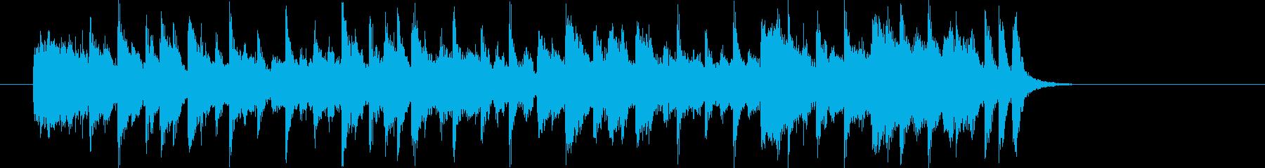 爽やかで明るいシンセサイザーサウンド短めの再生済みの波形