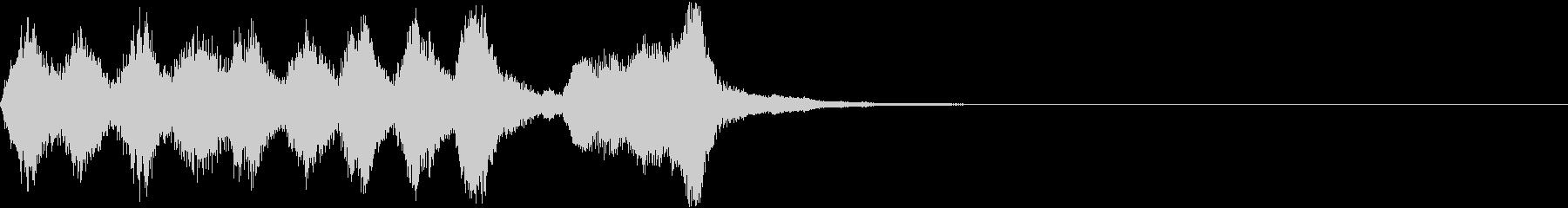 明るく可愛らしい管弦楽のジングルの未再生の波形
