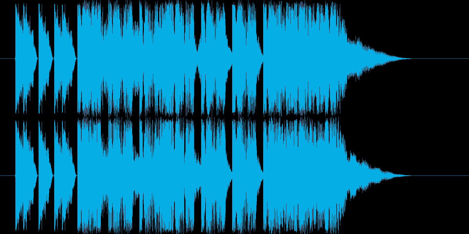 ダンサブルなエレクトロ(5〜7秒ジングルの再生済みの波形
