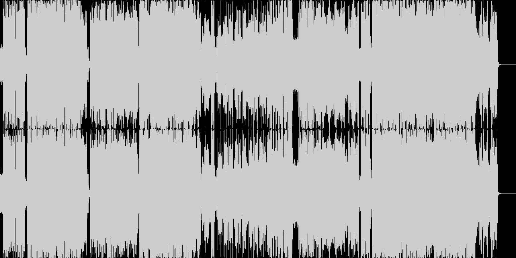 ダブステップが入った攻めのデジタルロックの未再生の波形