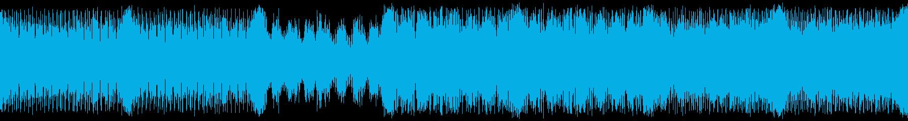 緊迫の疾走テクノオーケストラ ループ仕様の再生済みの波形