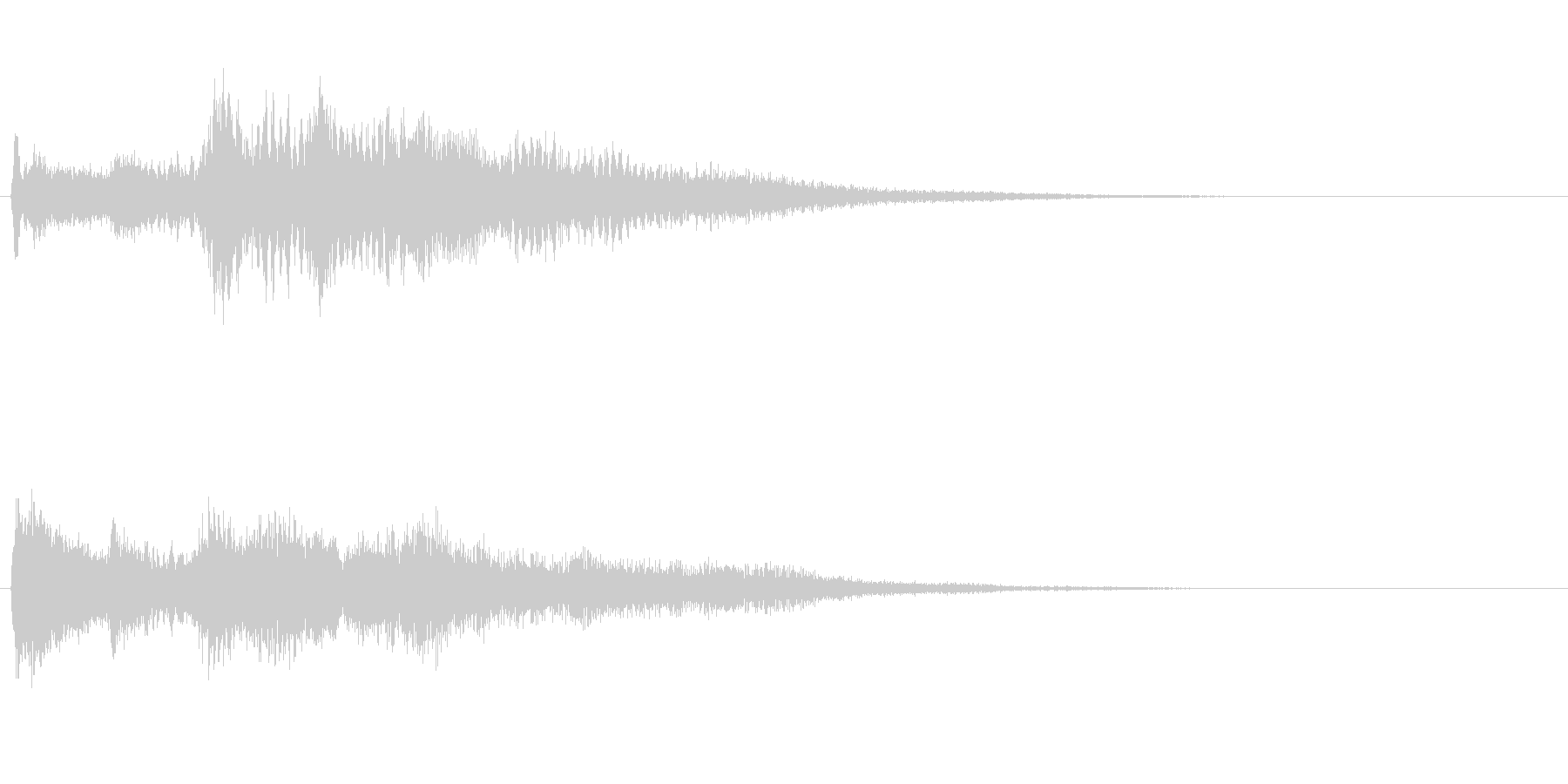 高音質♪サウンドロゴクリック音クリアの未再生の波形