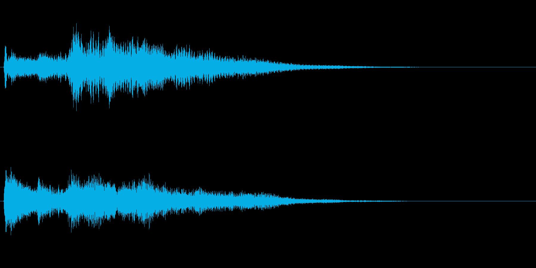 高音質♪サウンドロゴクリック音クリアの再生済みの波形