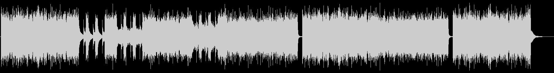 グルーヴ感のあるメタルコア バンド版の未再生の波形