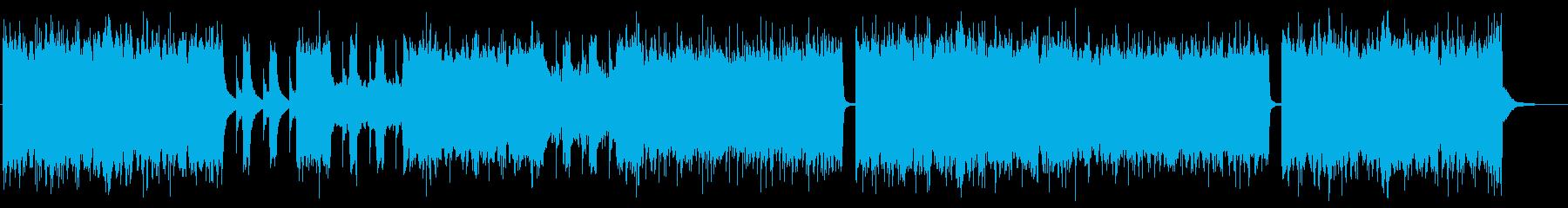 グルーヴ感のあるメタルコア バンド版の再生済みの波形