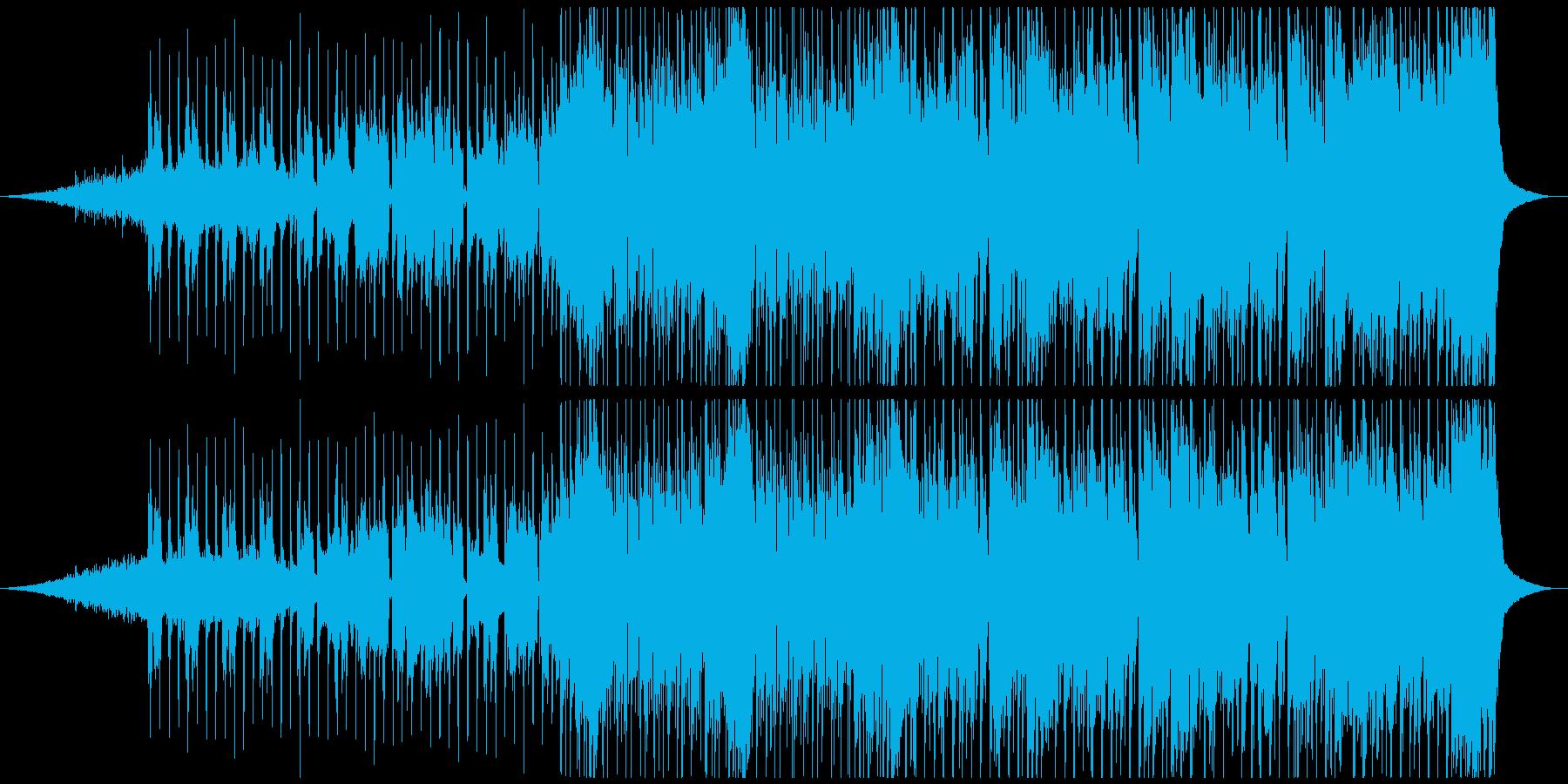ディスコ風のオープニングジングルの再生済みの波形