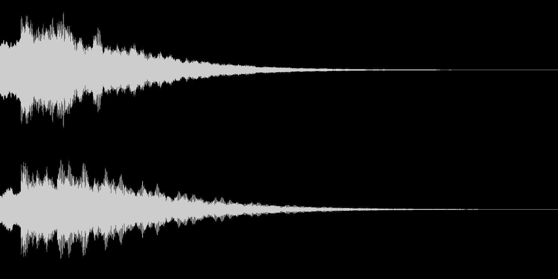 キラキラ(星/綺麗/決定)の未再生の波形