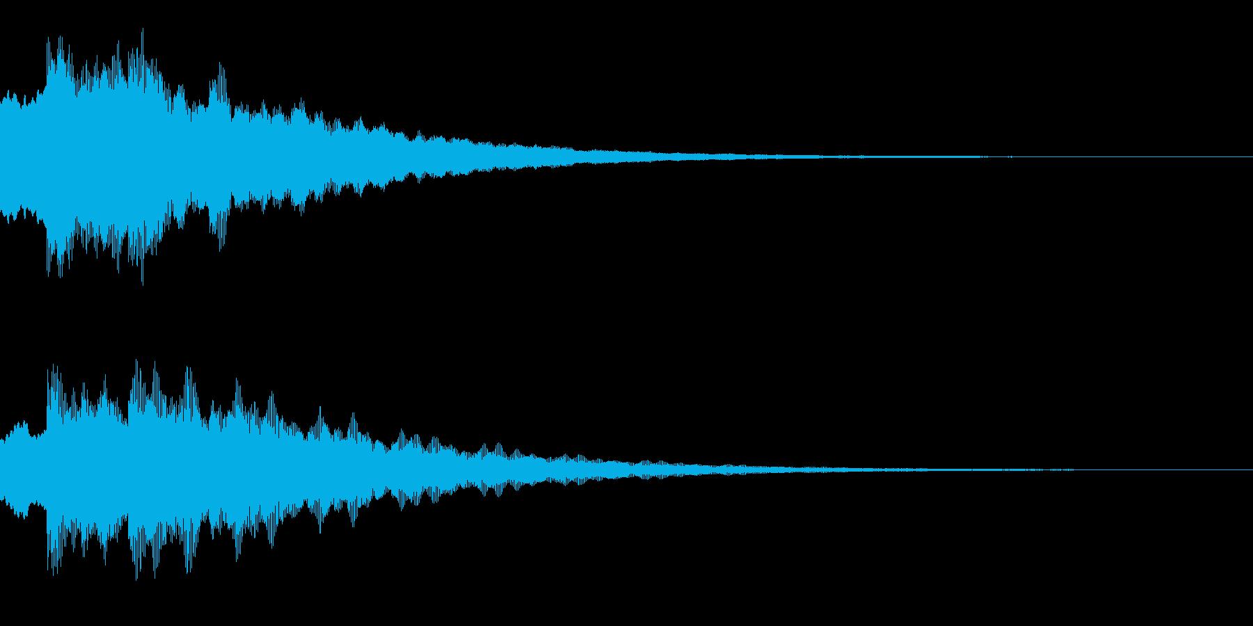 キラキラ(星/綺麗/決定)の再生済みの波形