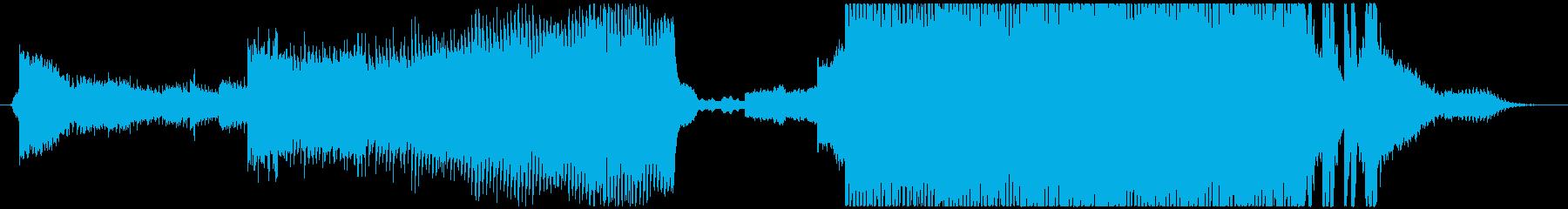 サイバーパンク・トレーラー風BGMの再生済みの波形