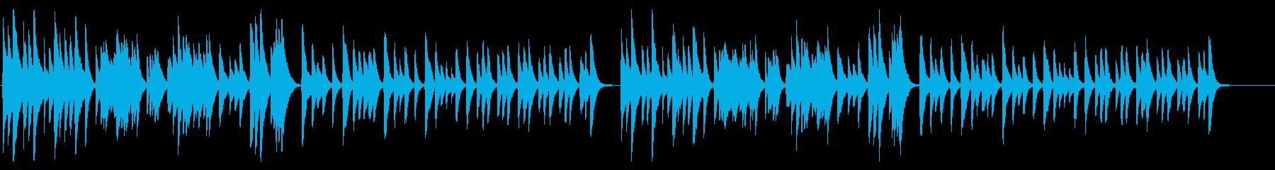 和風、懐石で流れそうな落ち着いた琴Bの再生済みの波形