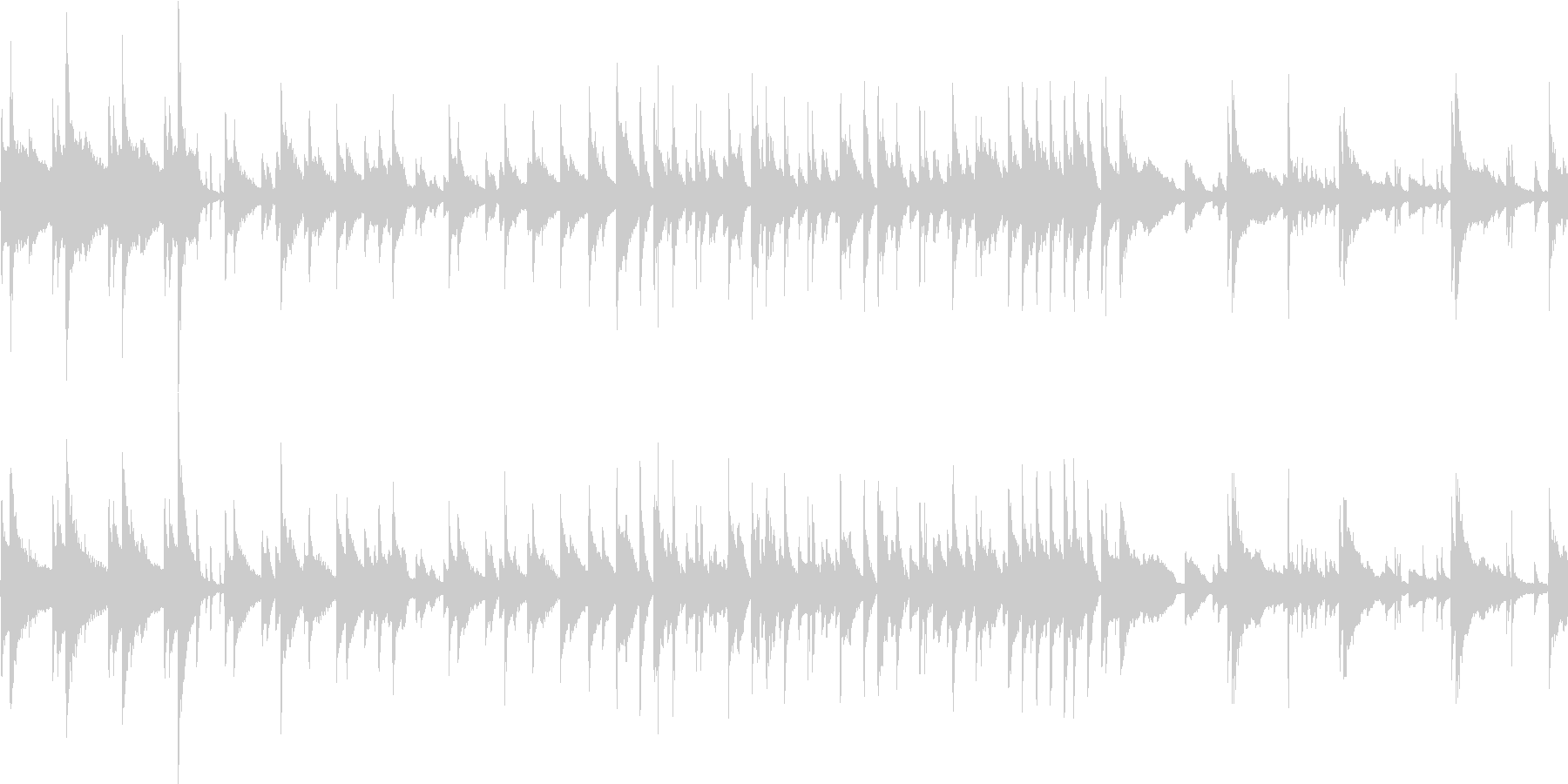 おしゃれな落ち着いたBGMループの未再生の波形