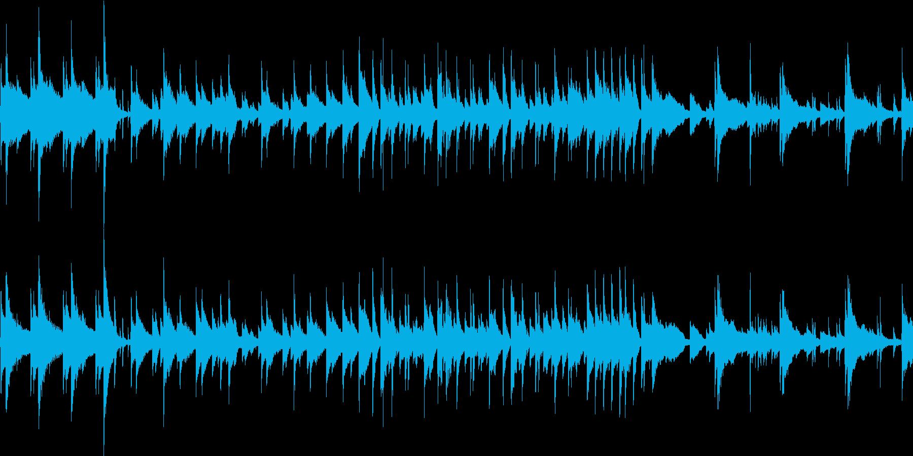 おしゃれな落ち着いたBGMループの再生済みの波形