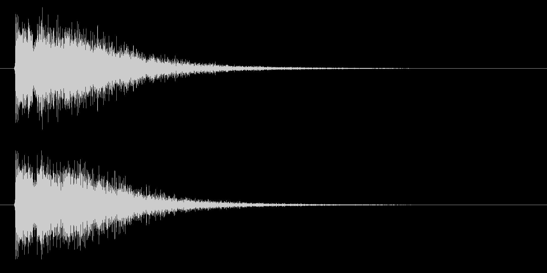 銃声01-3の未再生の波形