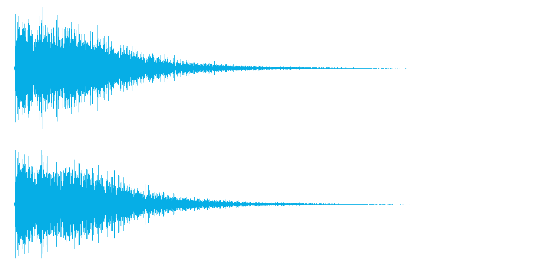 銃声01-3の再生済みの波形