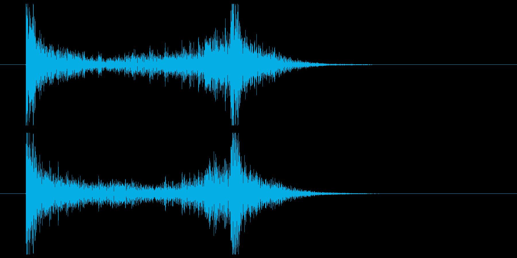 ティンパニーロール(2秒)の再生済みの波形