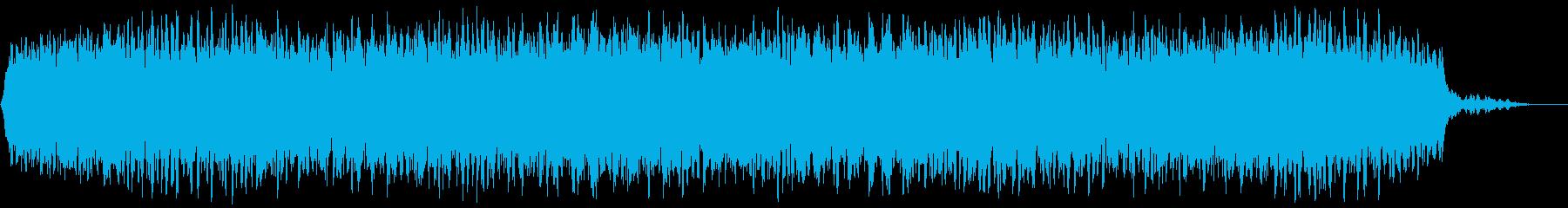 【アンビエント】ドローン_17 実験音の再生済みの波形