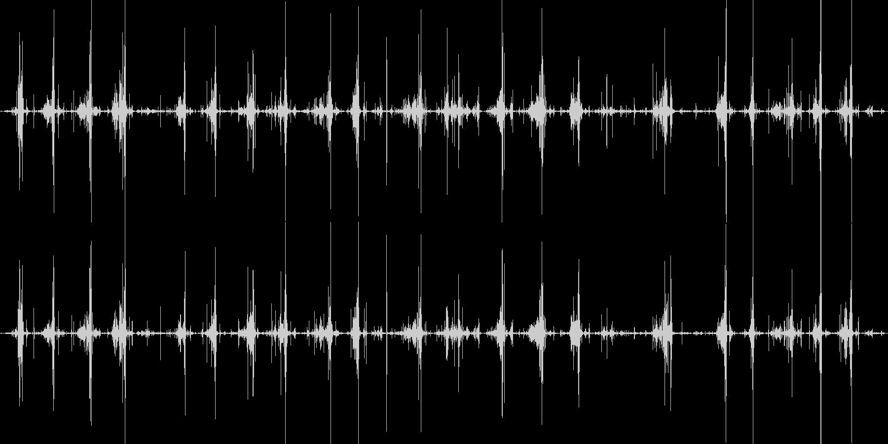 コリコリスライムを切る音の未再生の波形