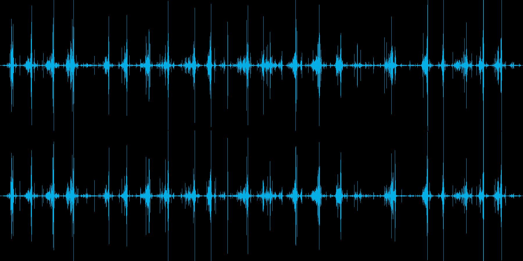 コリコリスライムを切る音の再生済みの波形