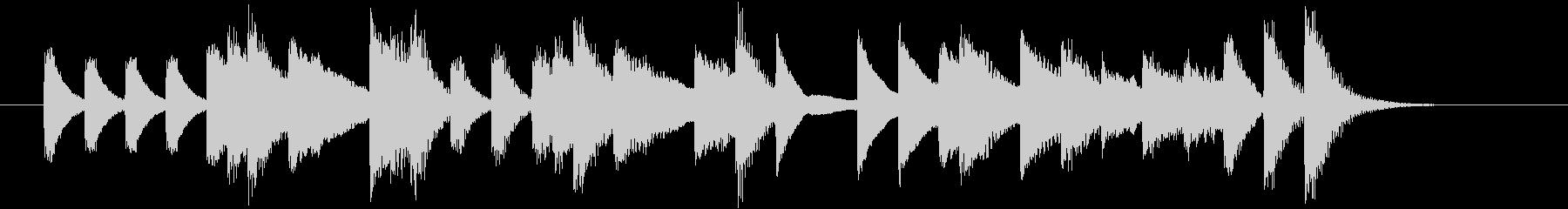 もろびとこぞりてモチーフピアノジングルDの未再生の波形
