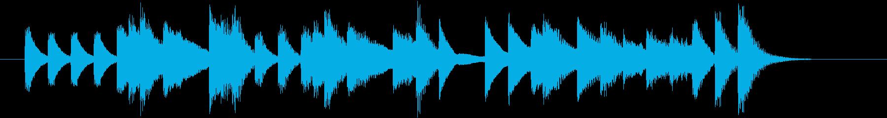 もろびとこぞりてモチーフピアノジングルDの再生済みの波形