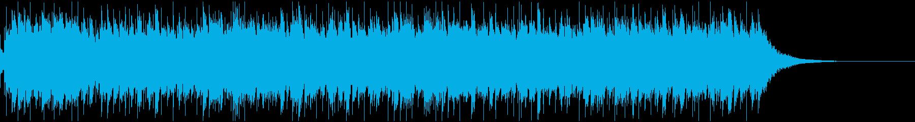 軽快でほのぼのとしたオルゴールの曲の再生済みの波形