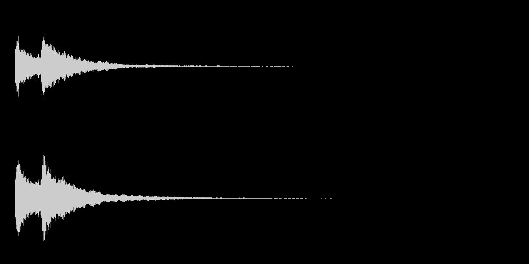 歌舞伎の吊るし鉦 双盤の単発音+Fxの未再生の波形