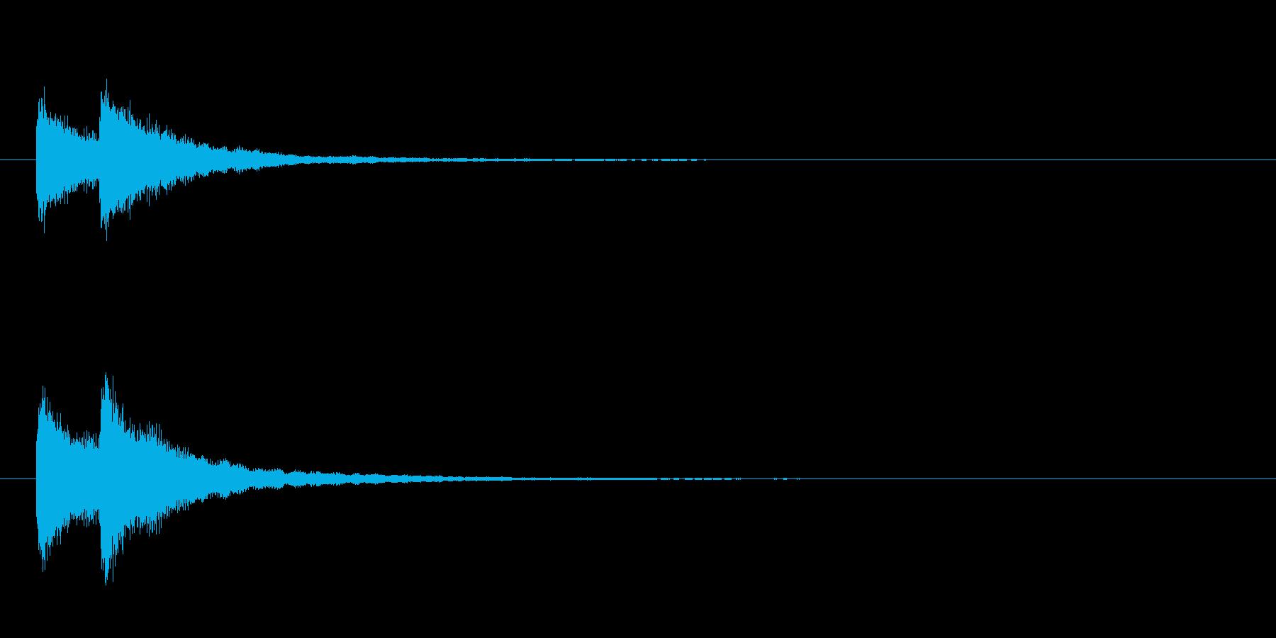 歌舞伎の吊るし鉦 双盤の単発音+Fxの再生済みの波形
