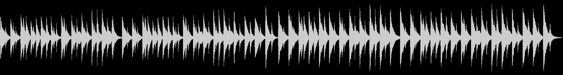 澄んだサウンドのホラー風オルゴールの未再生の波形