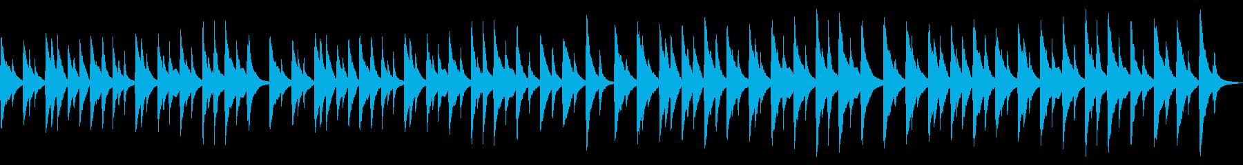 澄んだサウンドのホラー風オルゴールの再生済みの波形