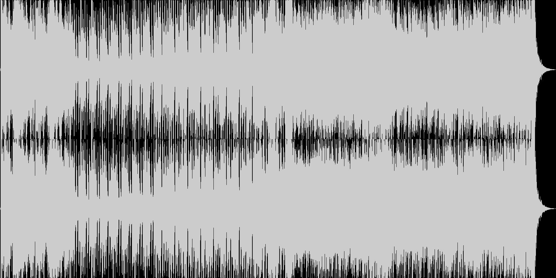 危機迫る雰囲気のオーケストラポップの未再生の波形